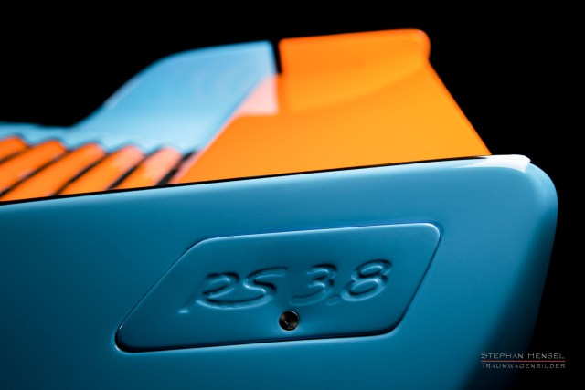 PORSCHE 964 RS 3.8, Detailansicht Heckspoiler links, Stephan Hensel, Autofotograf, Hamburg