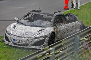 Гибрид Honda NSX сгорел на Нюрбургринге