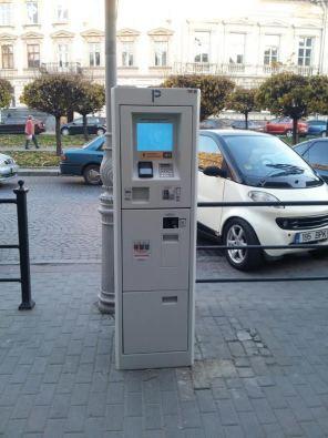В Украине установили первые бесконтактные паркоматы