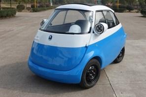 Microlino: электрический микромобиль-пузырь в стиле BMW Isetta