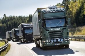 Scania и Ericsson снизят сопротивление ветру и расход при движении фур колонной