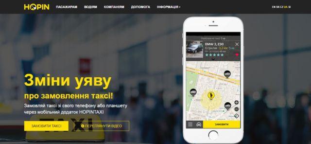 Сервис Hopin Taxi запустился в Чернигове