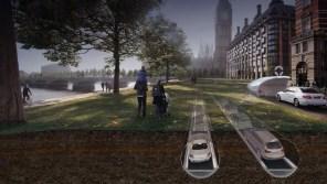 Британцы решили загнать электромобили под землю. В прямом смысле слова