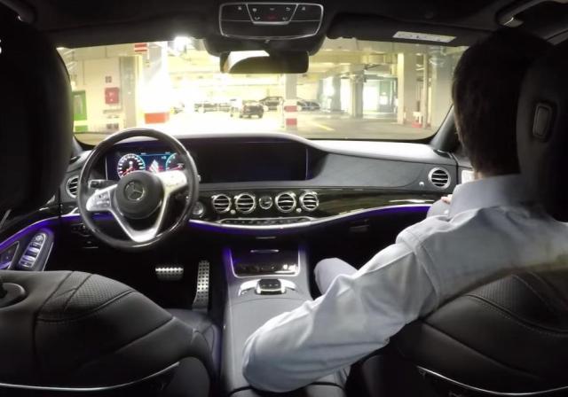 Видео: Новые модели Mercedes S-класса будут выезжать с завода на автопилоте