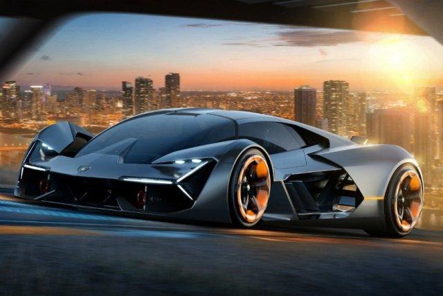 Lamborghini представили концептуальный электрокар с новым типом аккумулятора