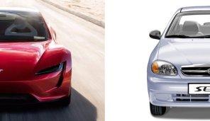 Tesla vs ЗАЗ: Autogeek сравнил Roadster и Sens