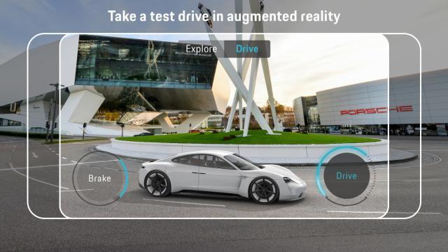 Немцы представили приложение дополненной реальности для электромобиля Porsche Mission E