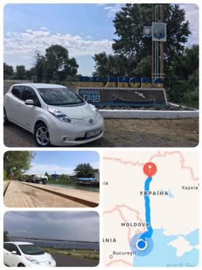 Как доехать из Киева до Одессы на Nissan Leaf за 8 часов без троса и эвакуатора