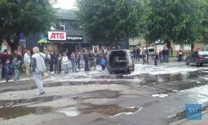Под Луцком сгорел самодельный электромобиль