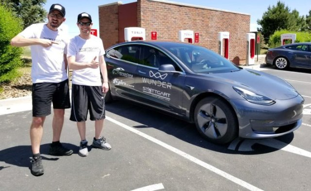 Новый рекорд: бюджетная Tesla Model 3 проехала почти 1000 километров на одном заряде