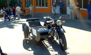 Видео дня: тяжёлый мотоцикл Днепр К-750 перевели на электротягу