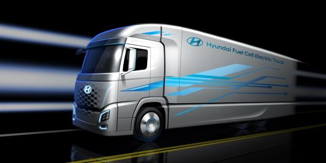 В Hyundai показали, как будет выглядеть их водородный грузовик: фото