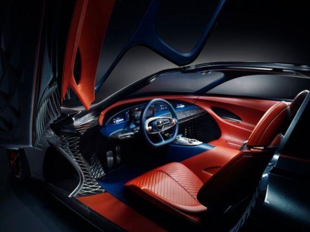 Лазеры вместо фар и без боковых зеркал: Genesis показал концепт первого электромобиля бренда