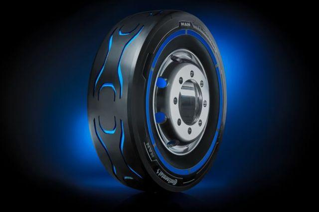 Continental и MAN представили прототип первой шины для электрогрузовиков