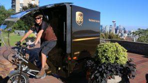 Вернулись к корням: служба доставки UPS пересадила курьеров на грузовые электровелосипеды
