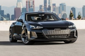 Фото дня: электромобиль Audi e-tron GT concept дебютировал на автосалоне в Лос-Анджелесе