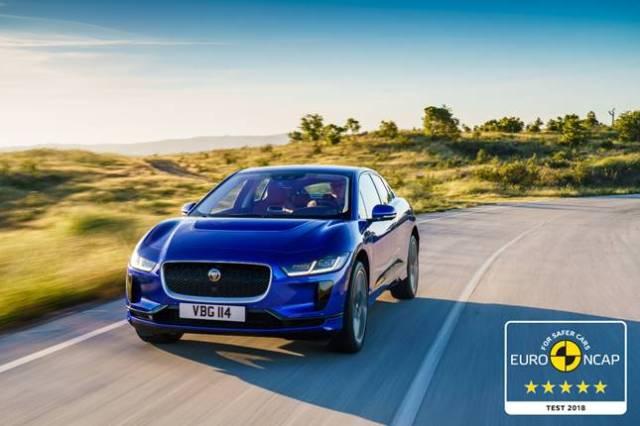 Электрический кроссовер Jaguar I-PACE получил пять звезд в рейтинге Euro NCAP