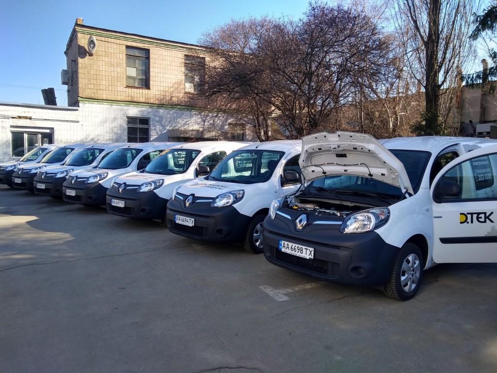 На благо всех киевлян: ДТЭК Киевские электросети закупили 11 электромобилей Renault
