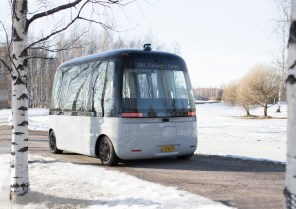 """Nokian """"обула"""" в свои шины первое в мире робо-такси Gacha"""