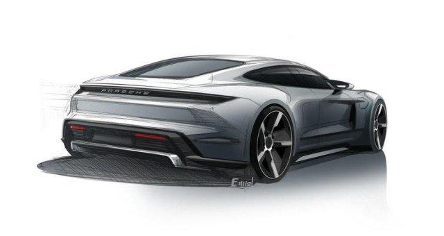 В Porsche показали окончательные эскизы электромобиля Taycan