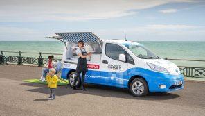Nissan представил концепт фургона для продажи мороженого на базе электромобиля e-NV200