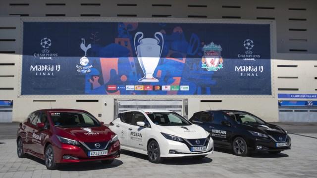 Цифра дня: финал Лиги чемпионов УЕФА обслуживали 363 электромобиля Nissan