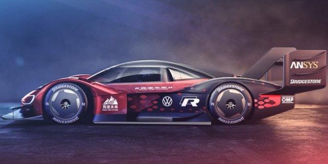 Электроболид Volkswagen ID. R выкрасили в красный цвет, чтобы установить рекорд на самой опасной дороге мира