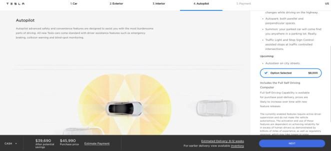 Буде тільки дорожчати: Tesla підняла ціну на опцію автопілота до 00
