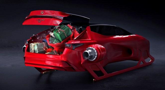 Lexus презентував літаючий автомобіль-сани для Санта-Клауса з нескінченним багажником