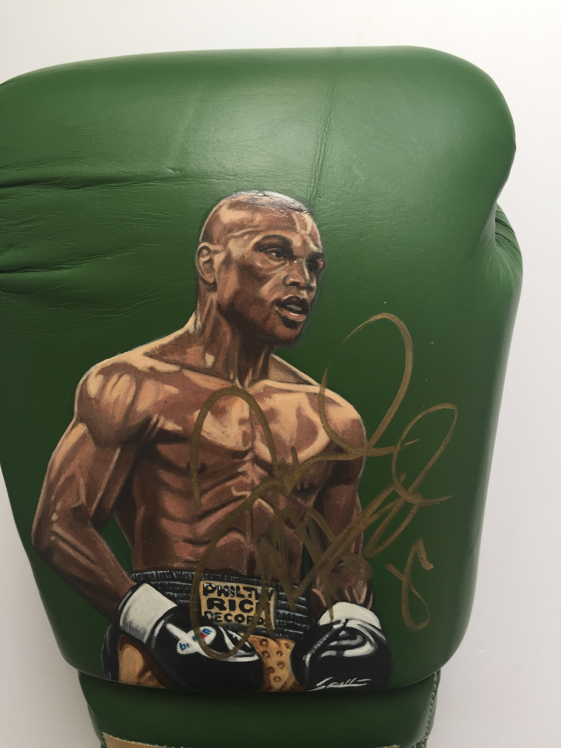 Floyd Mayweather Jr Hand Painted Signed Boxing Glove