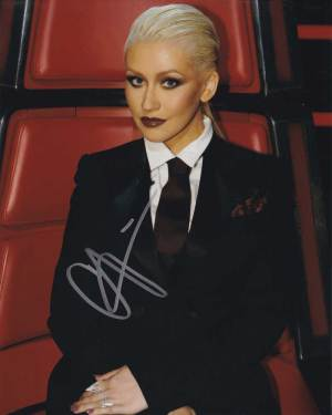 Christina Aguilera in-person autographed photo