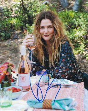 Drew Barrymore in-person autographed photo