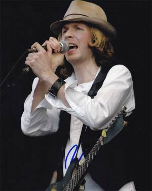Beck in-person autographed photo