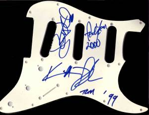 Crystal Method  in-person autographed Pick Guard