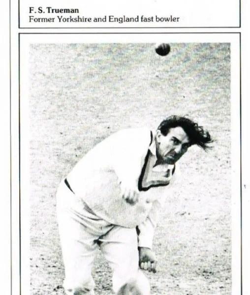 Fred Trueman autograph cricket card