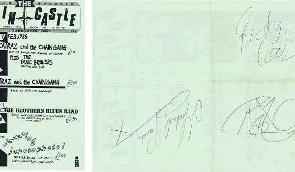 Robert Plant Autograph from a Dublin Concert