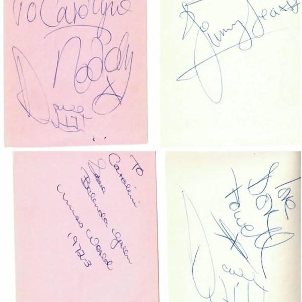 SLADE Autographs from Top Of The Pops – Noddy Holder