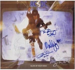 AC/DC Autographs Blow Up Your Video autographs for sale