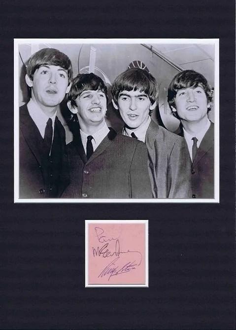 Paul McCartney and Ringo Starr Autographs – The Beatles UACC Dealers