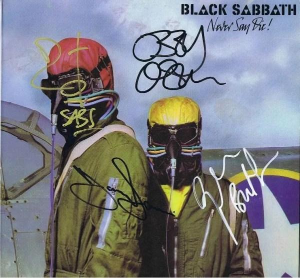 Black Sabbath Autographs Never Say Die Lp