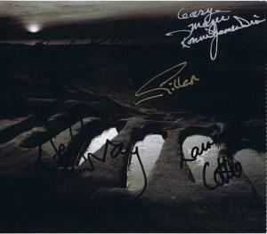 Black Sabbath autograph CD Cover 5 members – Ronnie James Dio, Ian Gillan
