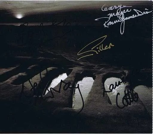 Black Sabbath autograph CD Cover 5 members – Ronnie James Dio, Ian Gillan