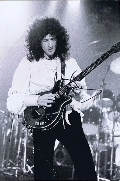 Brian May Autographs Queen signed photo 12×8 #2