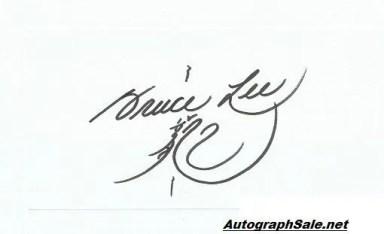 Bruce Lee autographs for sale