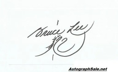 Bruce Lee autographs for sale