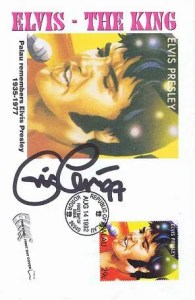 Eric Clapton Signed Elvis First Day Card 1997