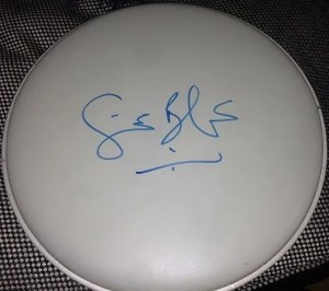 Ginger Baker Cream Autographed drumhead 2
