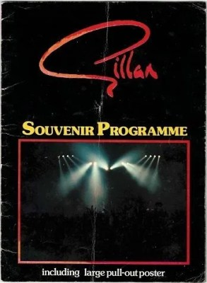 Ian Gillan Autograph programme Deep Purple