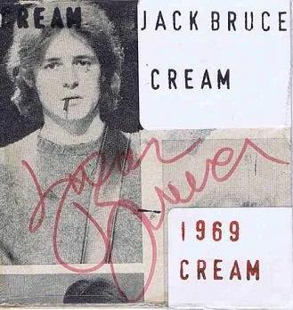 Cream Autographs Eric Clapton Ginger Baker Jack Bruce