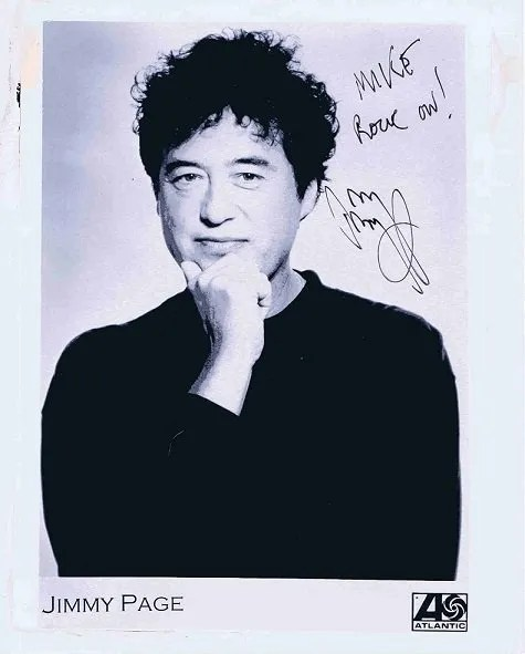 Jimmy Page Autographed Promo photograph Led Zeppelin